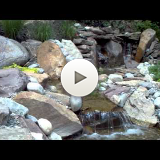 Stream with waterfalls